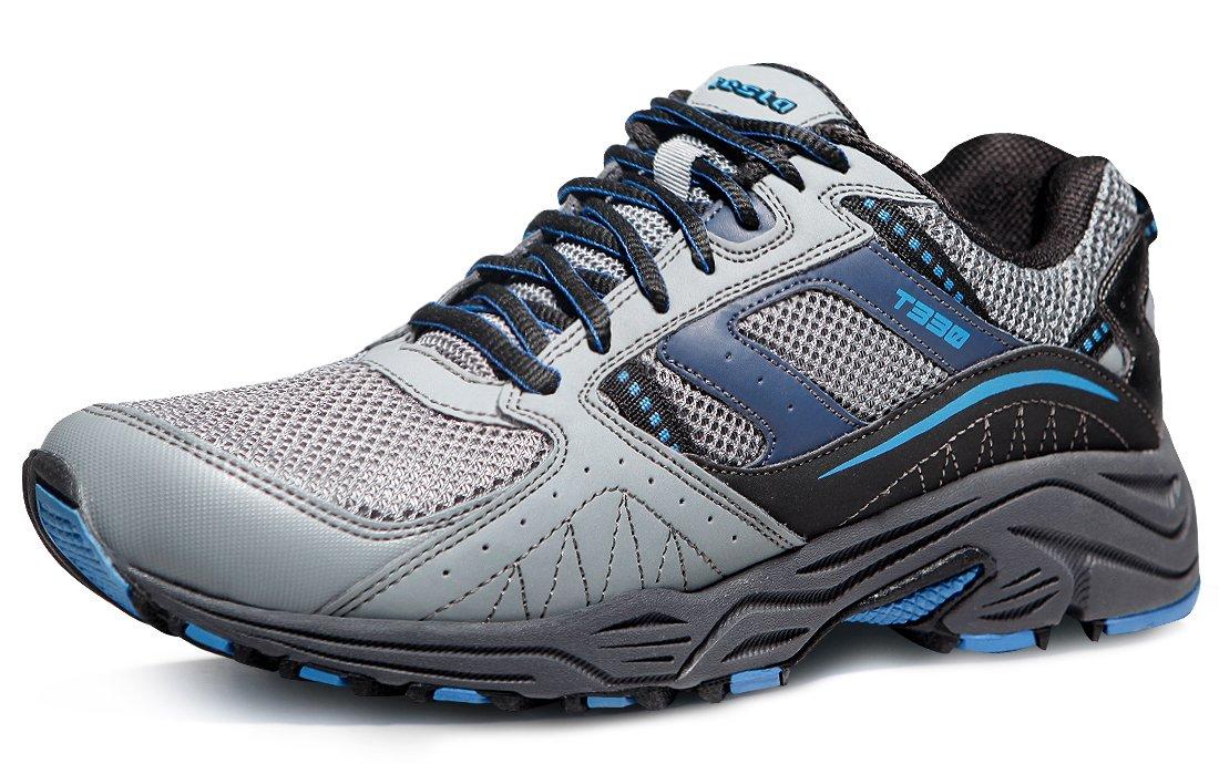 6085e889efd5b TSLA Men's Outdoor Sneakers Trail Running Shoe, Outdoor(t330) - Light Grey  & Blue, 9.5