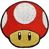 Emporium Embroidery Listeriosis Parche Bordado de Hierro en Apliques con Mario Kart/SNES/Traje de Mario World/Super Mario Bros/Mario All Stars