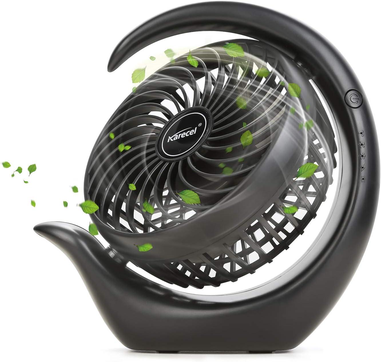 Size : Lithium Battery Mini Portable Cooling Fan Portable Mini Desk Fan USB Charging Ultra Quiet Rotation Air Cooler Table Fan
