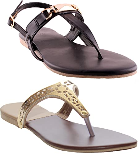 fb4fba1f839864 Combo Pack of two Sandals