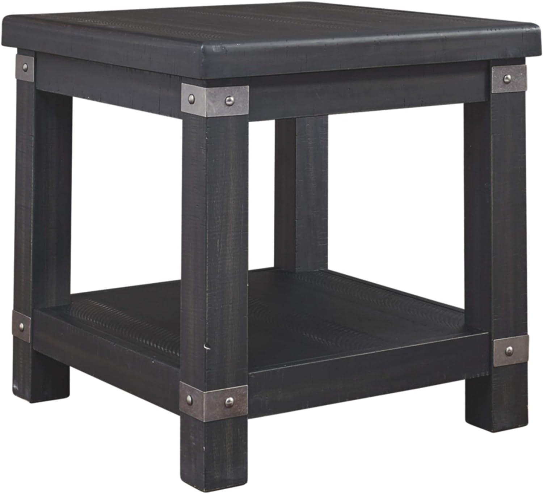 Signature Design by Ashley Delmar Rectangular End Table, Black