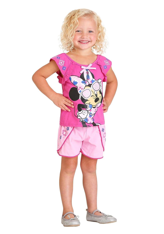 Disney Girls 2 Piece Minnie Mouse Pom Pom Short Set