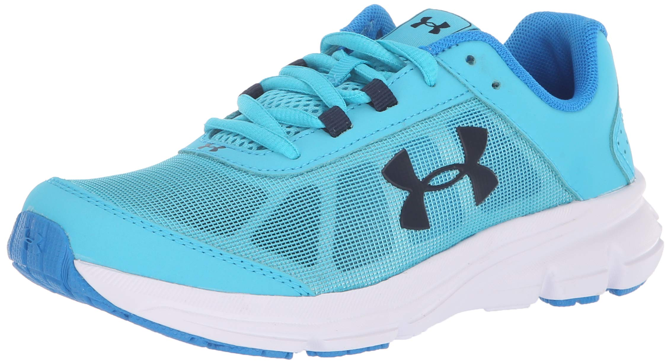 Under Armour Girls' Grade School Rave 2 Sneaker, Alpine (301)/Blue Circuit, 4 by Under Armour (Image #1)