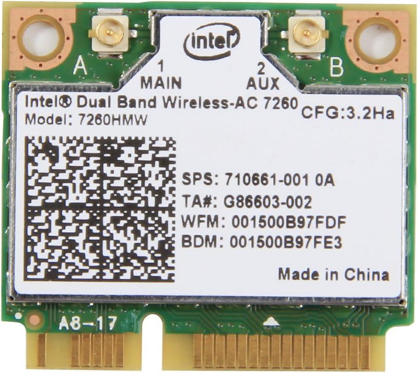 Intel Dual Band Wireless-AC 7260 7260HMW 802.11abgn 802.11ac 2x2Wi-Fi + Bluetooth Módulo medio Tamaño