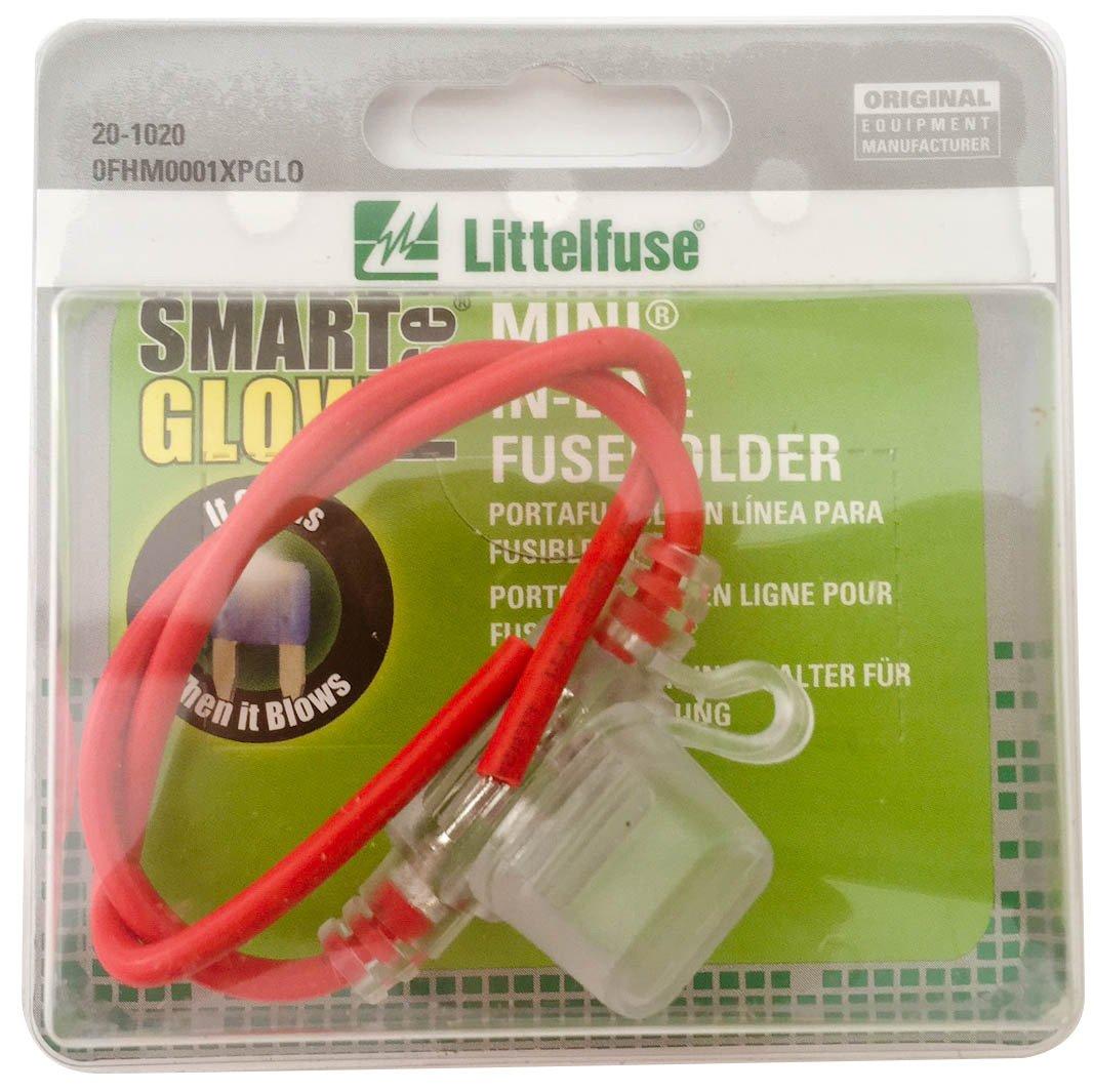 Littelfuse 0fhm0001xpglo In Line Fuse Holder For Smart Box Glow Mini Blade Style Automotive