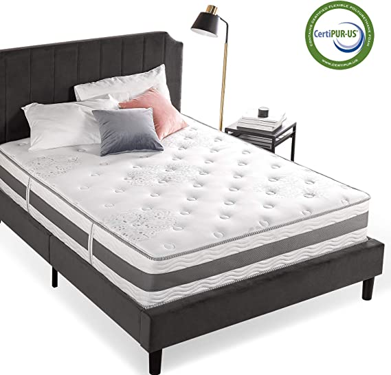 Zinus 12 Inch Gel-Infused Memory Foam Hybrid Mattress