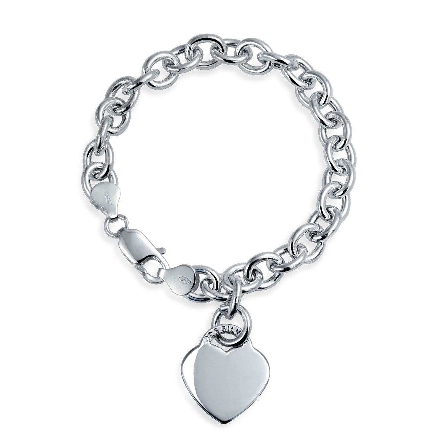 silver bracelet appl locket charm jb jewelry bling pave lock key and sterling az cz heart
