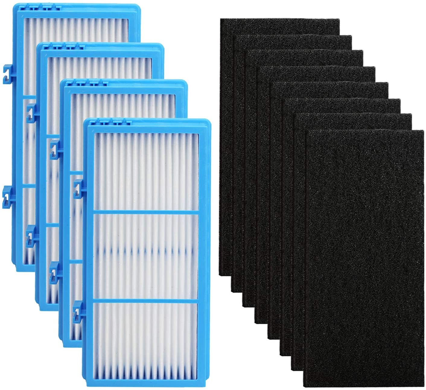 IOYIJOI True Filter Replacement for Holmes Aer1 Series Total Air Filter, Replacement Parts # HAPF300AH-U4R, HAP242-NUC (4 HEPA True Filter Replacement + 8 Booster Pre Filter)