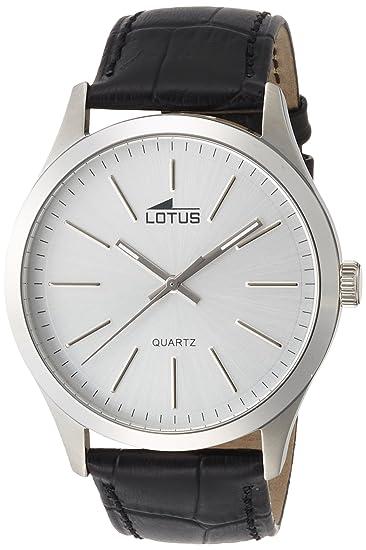 bfb08497d0f8 Lotus Reloj Analógico para Hombre de Cuarzo con Correa en Cuero 15961 1   Amazon.es  Relojes