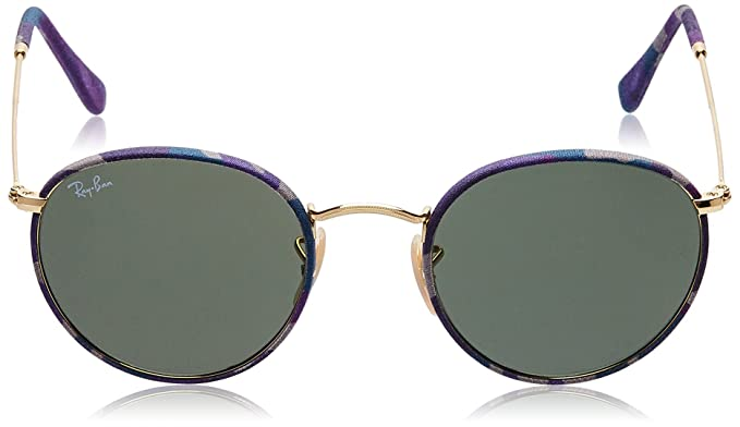 888a29122ed Amazon.com  Ray-Ban ROUND METAL (M) - CAMOFLAGE VIOLET BLUE Frame GREEN  Lenses 50mm Non-Polarized  Ray-Ban  Clothing