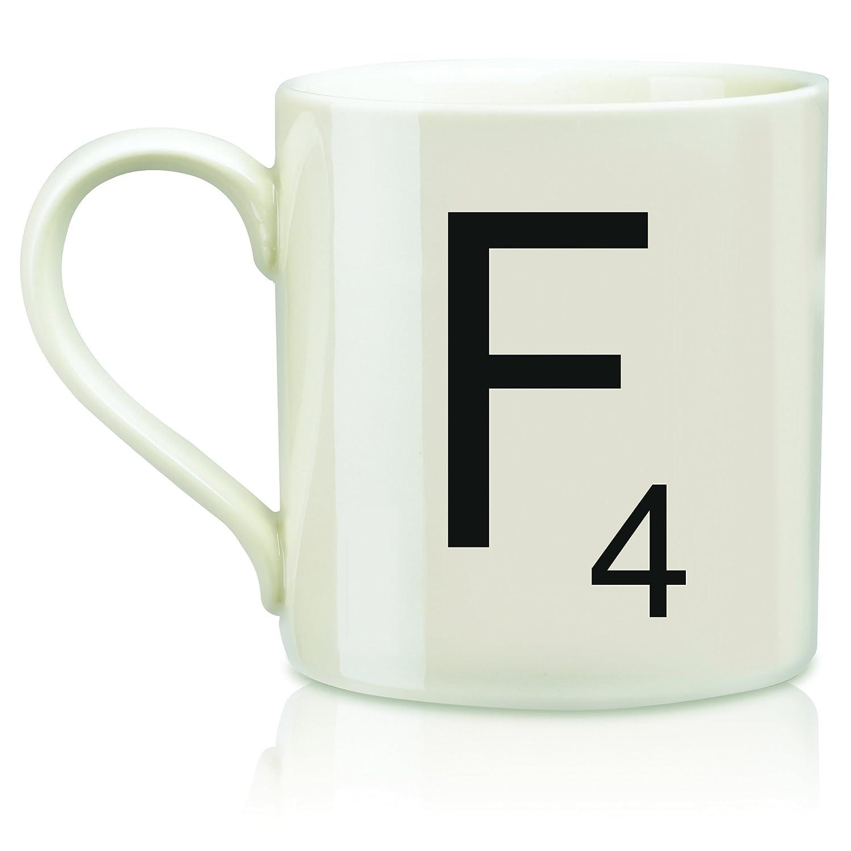Amazon.com: Scrabble Letter Ceramic L Scrabble Mug, Cream/Black (14  Ounces): Kitchen & Dining
