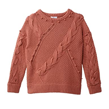 478c0728e5d5 La Redoute Collections Womens Pom Pom Chunky Cable Knit Jumper Sweater Pink  Size S