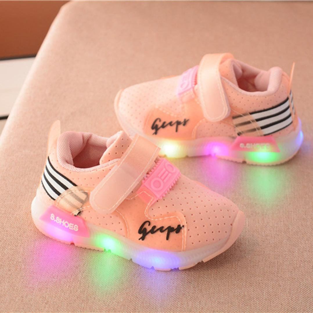 Dreamyth Autumn Toddler Sport Running Baby Shoes Boys Girls LED Luminous Shoes Sneakers New