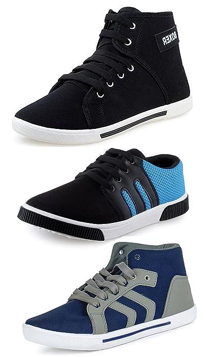 8bebcde8d486 Chevit Men s Designer Pack of 3 Sneakers (Casual Shoes)  Buy Online ...