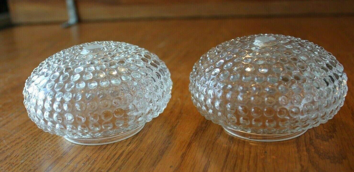 Amazon Com 2 Hobnail Glass Lamp Shades Clear Vintage