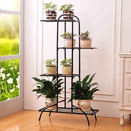 Estantes para plantas / estanteria jardin Soporte de flores Soporte de flores de hierro forjado Soporte de pie Multilayer Estante Continental balcón de la sala de estar Estantería estanterias de jar: Amazon.es: