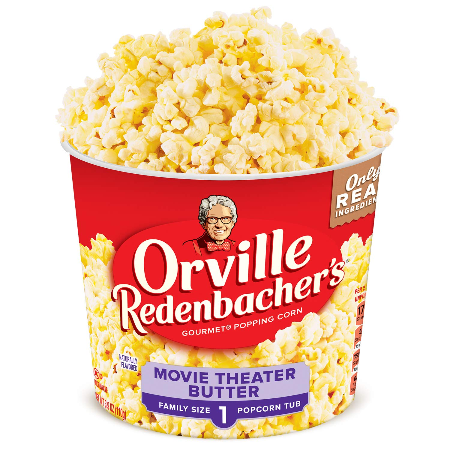 Amazon Com Orville Redenbacher S Movie Theater Butter Popcorn Tub 3 9 Ounce Pack Of 12 Microwave Popcorn Grocery Gourmet Food