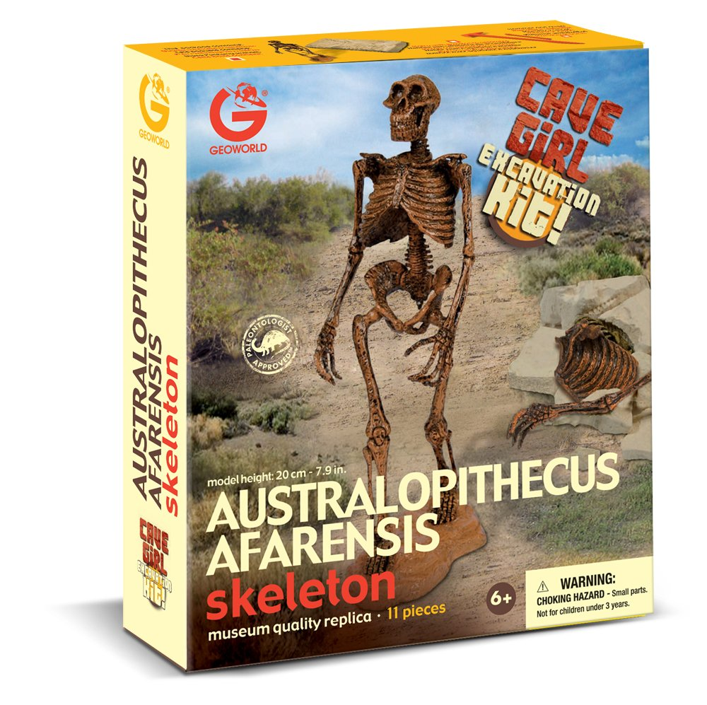 Geoworld Cave Girl Australopithecus Afarensis Skeleton Dig Excavation Kit