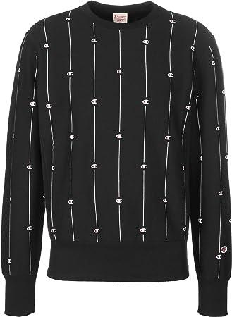 aab87fcc8c3f Champion Stripe Logo Sweater Black: Amazon.co.uk: Sports & Outdoors