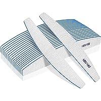 Nagel Bestanden, nagelvijl professionele 100/180 Grit, 12Pcs nagelvijl voor acryl nagels, nagelvijl set wasbaar en…