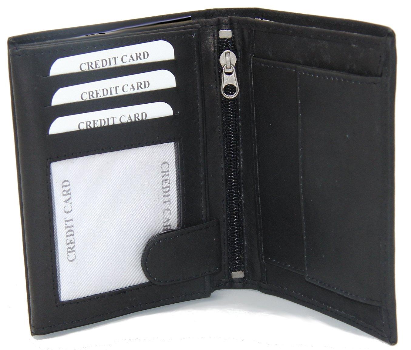 Monedero De Noble - Cuero Genuino - Bolsa de dinero en el modo de retrato negro - mi! monedero - Premium Colección por Dargelis