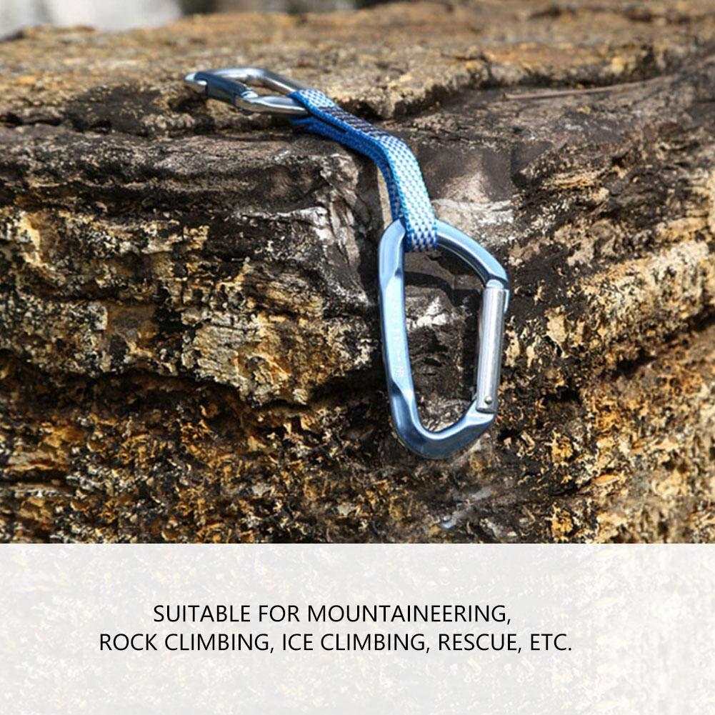 Zerone Roccia Arrampicata Salvataggio moschettone Serratura di Sicurezza Esterna D Fibbia Salita Accessorio
