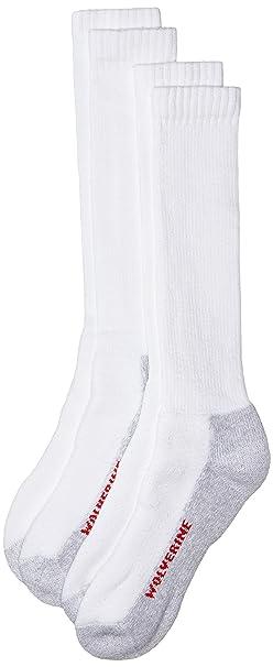 Lobezno de hombre cotton-blend acolchada calcetines (paquete de dos) - Blanco - : Amazon.es: Ropa y accesorios