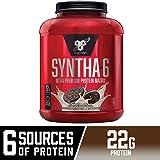ماتريكس بروتين ممتاز من بي إس إن SYNTHA-6، بودرة بروتين مصل الحليب وميسيلير كازين ومسحوق معزول ببروتين الحليب والكوكيز والكريم، 5 رطل، 48 وجبة