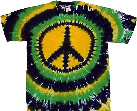 793111a1b84b5 Tie Dyed Shop Mardi Gras Peace Sign Tie Dye T Shirt Short Sleeve Men Women