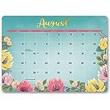Orange Circle Studio 2018 Decorative Desk Blotter Calendar, Aug. 2017 - Dec. 2018, Bold Blossoms
