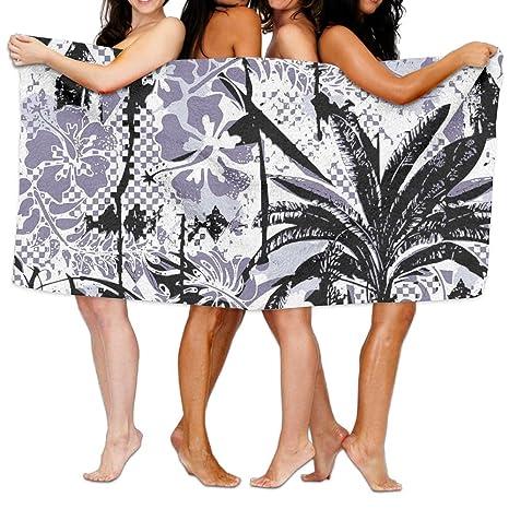 Toallas de baño, plantas tropicales playa estilo Super suave ultra absorbente toalla de baño para