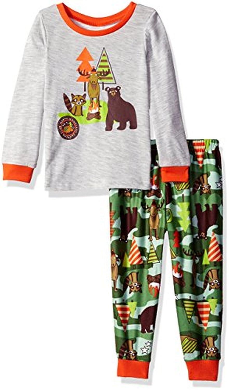 Toddler Boys Camping Wildlife Jersey Pajama Set