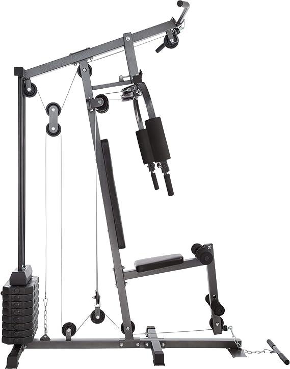 TecTake Multiestación Maquina de musculación | Módulo de Mariposa | Estribo para piernas | 8x4,5 kg & 1x3,5 kg | Barra - Varios Modelos