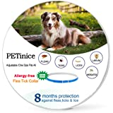 Flea and Tick Prevention for Dogs,Flea Control for Dogs-Prevents,Repels Fleas,Ticks & Lice Waterproof and Adjustable Dog Flea and Tick Control for 8 Month Protection(New Version)