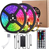 Led Strip Lights,UMICKOO 32.8ft 10m RGB 300LEDs Waterproof Light Strip Kits with Infrared 44 Key, Suitable for Room,TV, Ceiling, Cupboard Bar Home Decoration