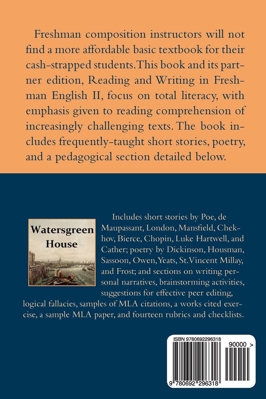 Amazon: Reading And Writing In Freshman English I (9780692296318):  Michael Wilson: Books