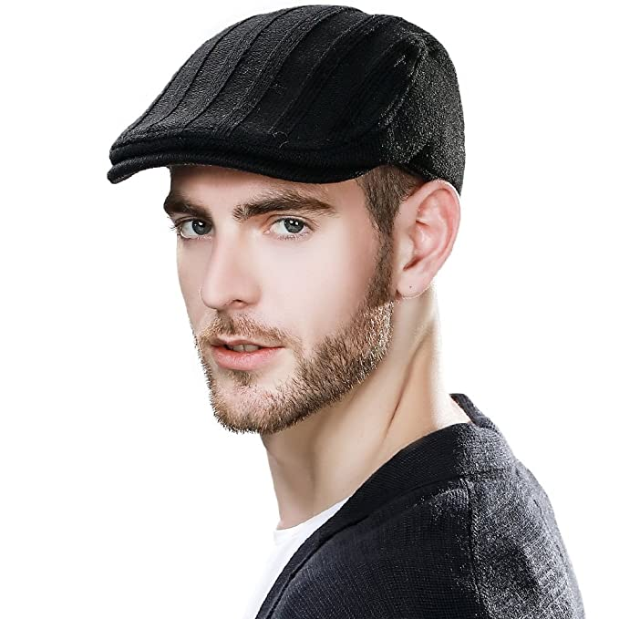 SIGGI Wool Newsboy Cap for Men Winter Hat Fitted Hunting Ivy Flat Cap  British Drivers Cap 03abf1a0708