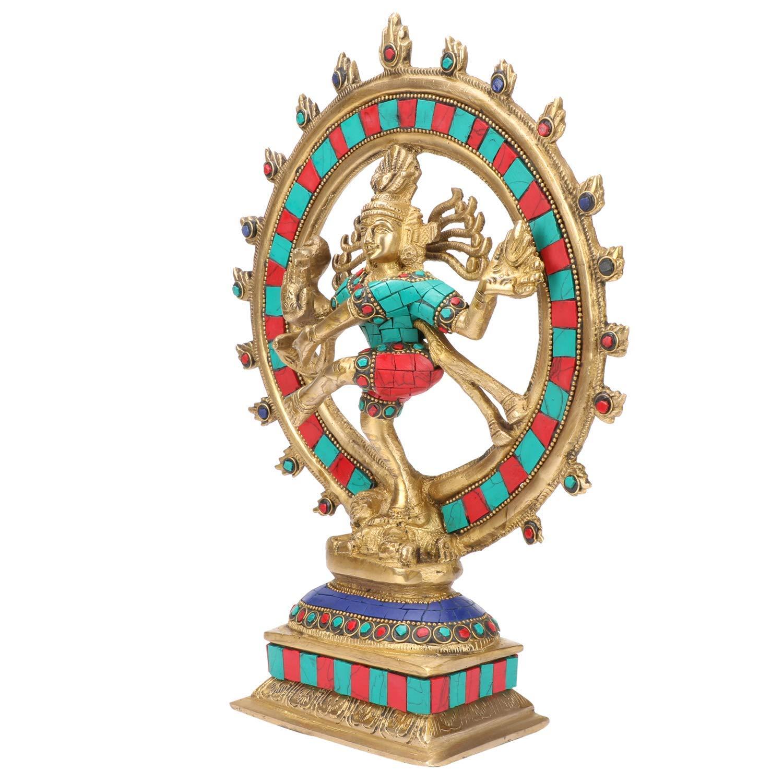 PINK-LOTUS Brass Dancing Natraja Murti | Hindu God Shiva Idol ...