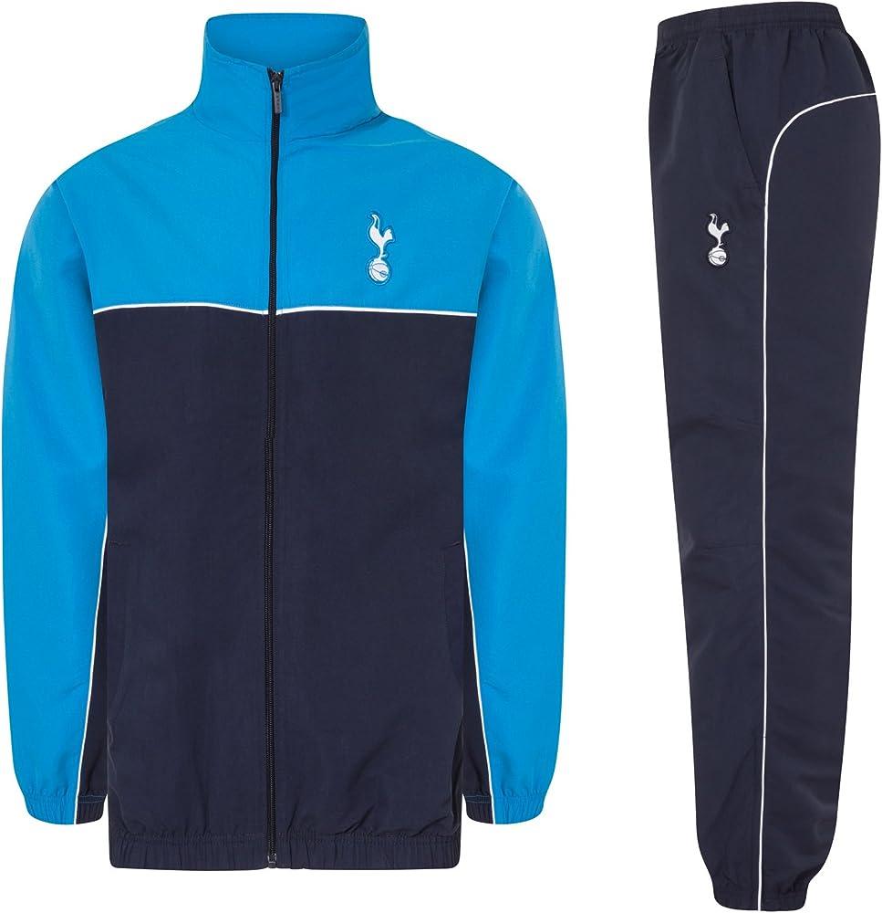 Tottenham Hotspur FC - Chándal Oficial para niño - Chaqueta y pantalón Largos - Azul Marino/Azul Cian - 2-3 años: Amazon.es: Ropa y accesorios