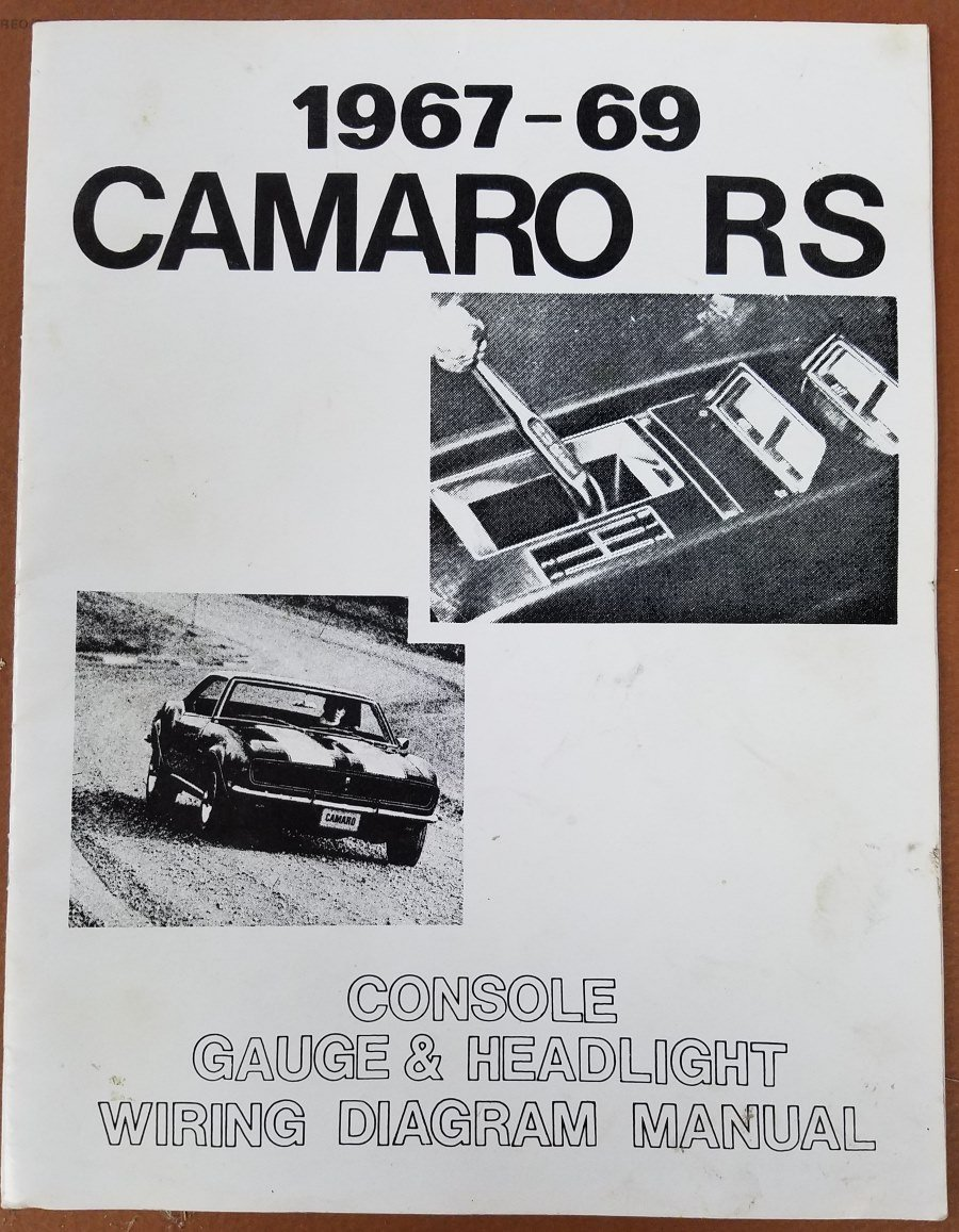 1967-69 camaro rs: console gauge & headlight wiring diagram manual  paperback – 2001