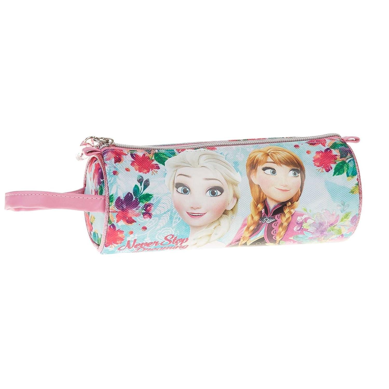 Disney Frozen- Estuche portatodo cilindrico, Color Turquesa, 22 cm (Karactermanía 32364)