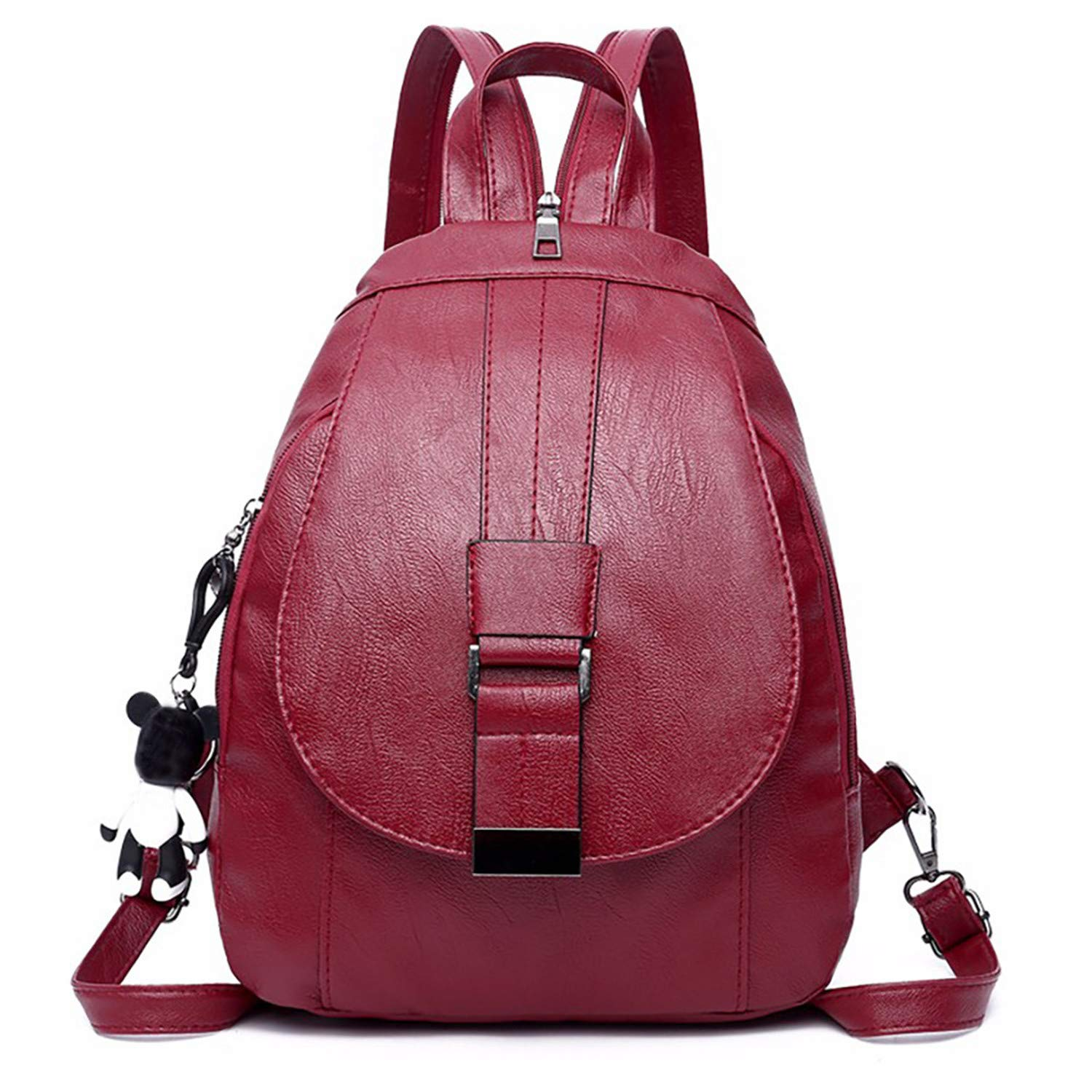 Simple Style PU Leather Backpack Bag Multi-purpose backpack female for school in style backpack female mochilas mujer at Amazon Womens Clothing store: