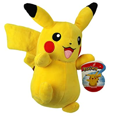 """Pokemon Pikachu 8"""" Plush - Officially Licensed and Stuffed Animal Material: Toys & Games"""
