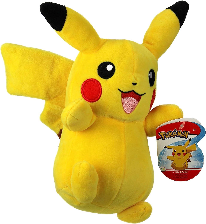 Pokemon 95211 Peluche Pikachu de 8 Pulgadas, Amarillo