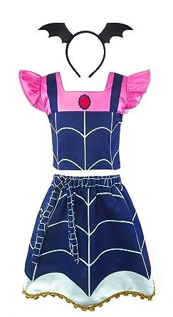 Padete Vampirina Disfraz de Halloween para niñas con Diadema, Azul ...