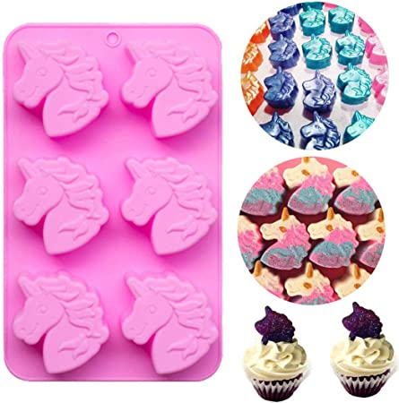 Unicorn Horse Silicone Cake Chocolate Mould Fondant Cookies Mold Tools LS3