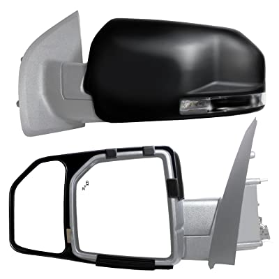 Fit System 81850 Snap and Zap Tow Mirror Pair (2015 and Up F150): Automotive
