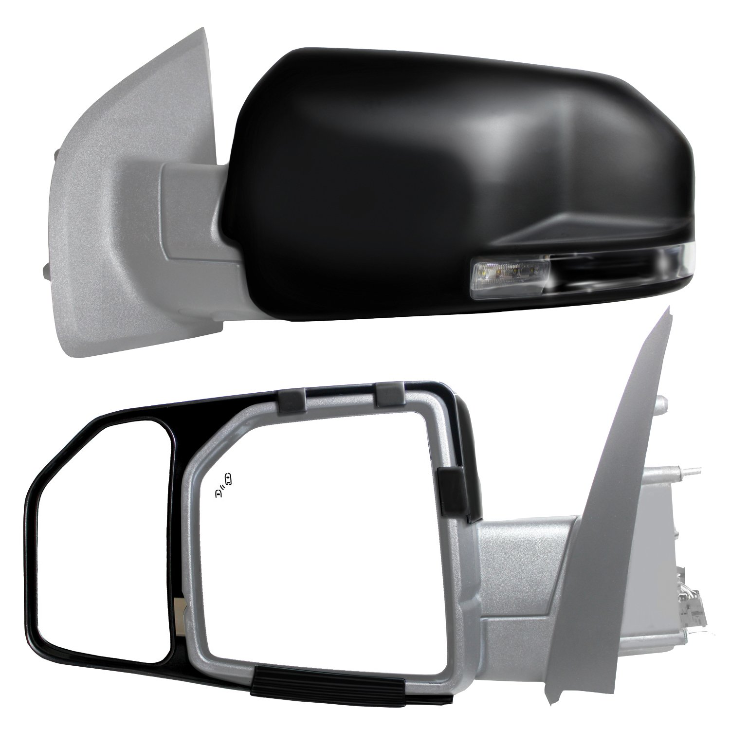 Fit System 81850 Snap and Zap Tow Mirror Pair (2015 and Up F150) by Fit System