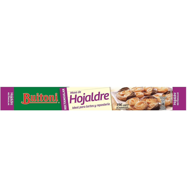 Buitoni Masa Hojaldre refrigerada - Masa para repostería rectangular 230 g: Amazon.es: Alimentación y bebidas