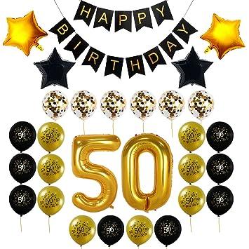 Decocheer 50th Birthday Decorations Gift For Men Women